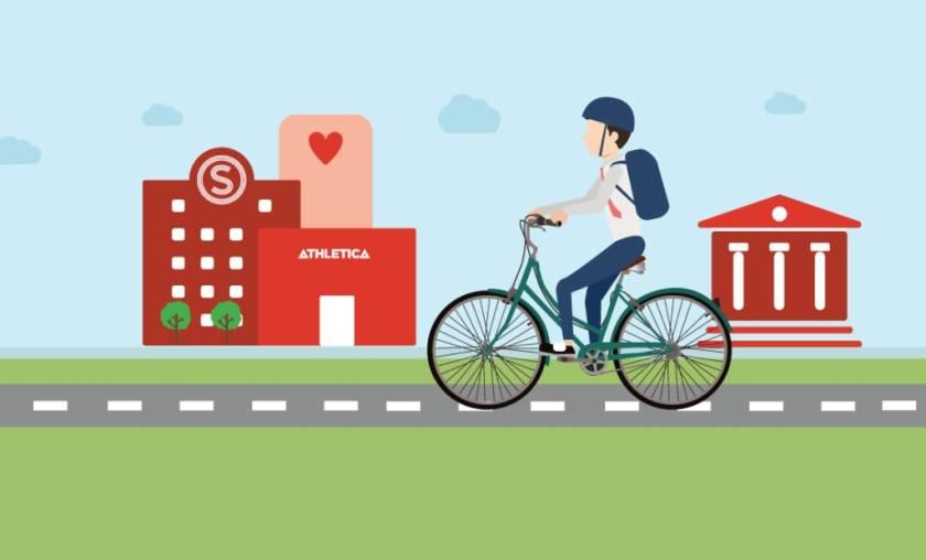 Pop-up bike repair shop at Sogn!