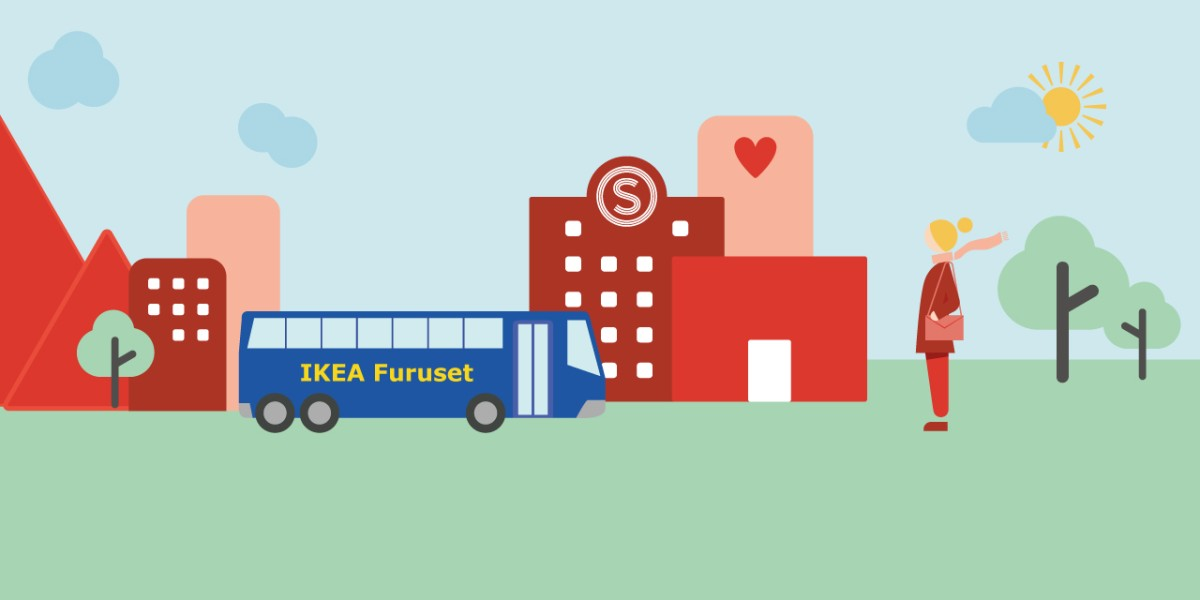 Take the IKEA-bus directly from your student village!